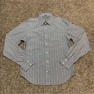 Abercrombie & Fitch 'Muscle' Button Up W/ Stripe